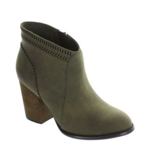Restricted Olive Booties Size 7